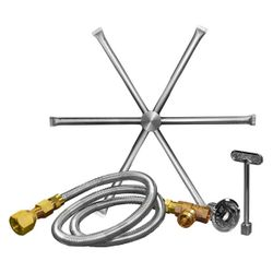 Stainless Steel Burning Spur Kit - 22""