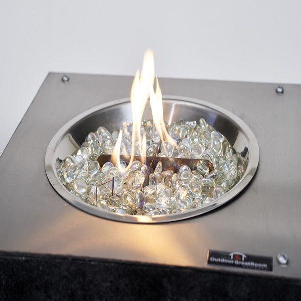 "Stainless Steel Crystal Fire Burner - 12"" image number 1"