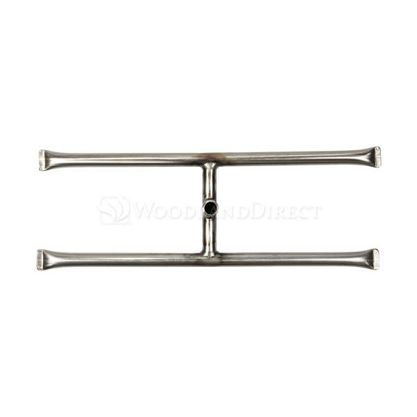 """Stainless Steel Gas Fire Pit H-Burner - 18"""" image number 1"""