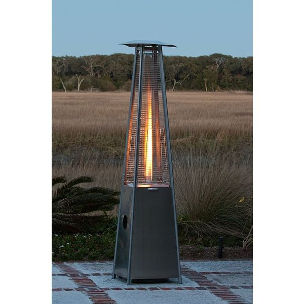 Fire Sense Pyramid Patio Heater - Stainless Steel image number 1