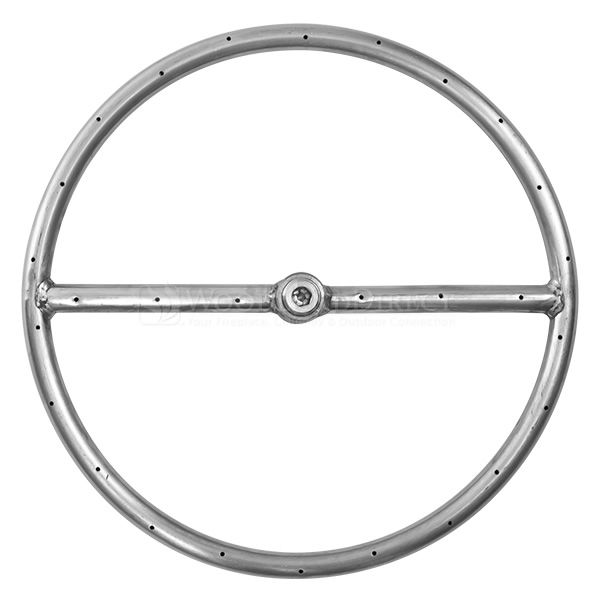 "Stainless Steel Round Gas Fire Pit Burner - 12"" image number 0"