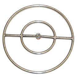 Stainless Steel Round Gas Fire Pit Burner - 24""
