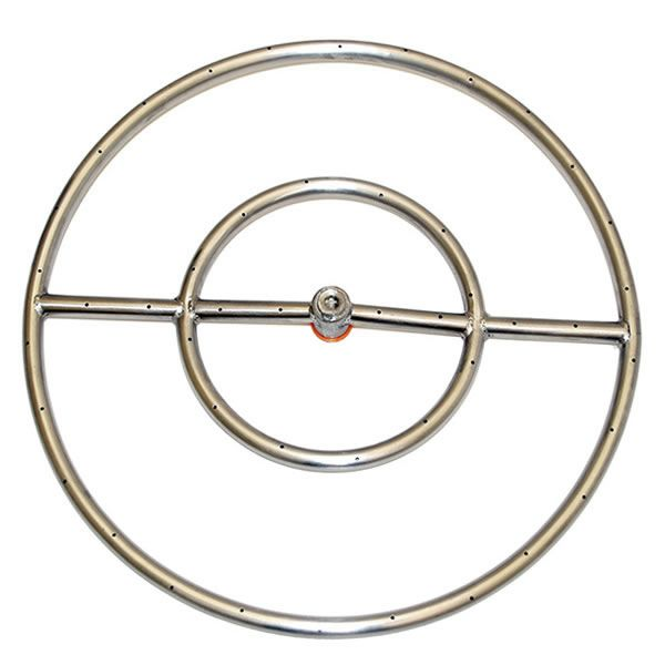 "Stainless Steel Round Gas Fire Pit Burner - 24"" image number 0"