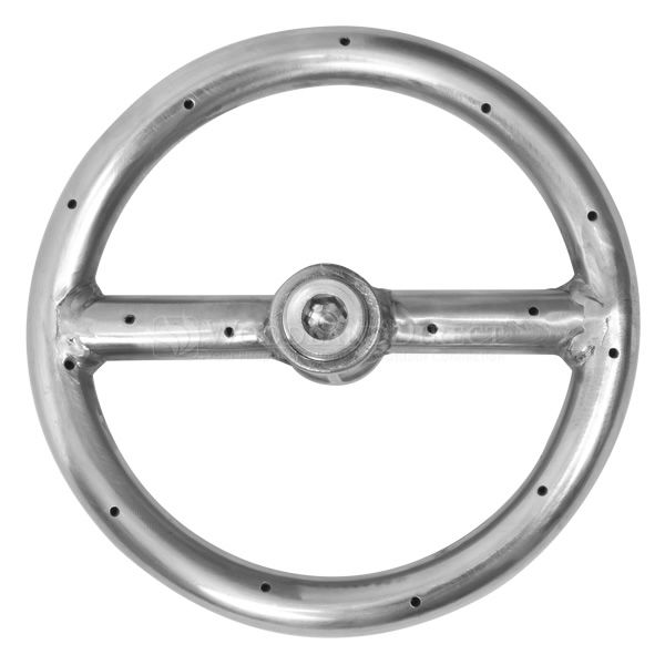 "Stainless Steel Round Gas Fire Pit Burner - 6"" image number 0"