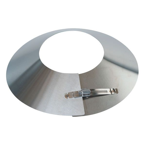 "Stainless Steel Storm Collar for Direct Vent Pipe - 4"" Dia image number 0"