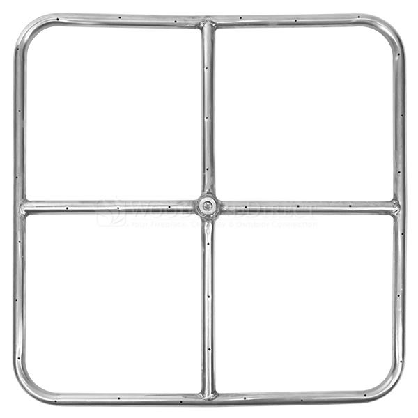 "Stainless Steel Square Gas Fire Pit Burner - 18""x18"" image number 0"