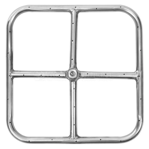 "Stainless Steel Square Gas Fire Pit Burner - 12""x12"" image number 0"