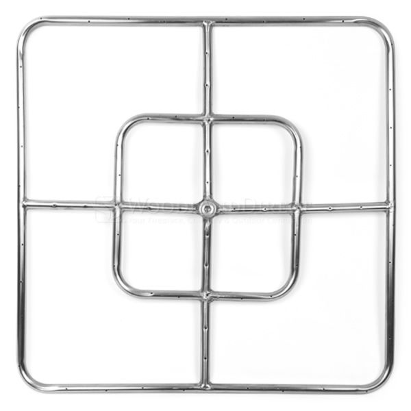 "Stainless Steel Square Gas Fire Pit Burner - 24""x24"" image number 0"