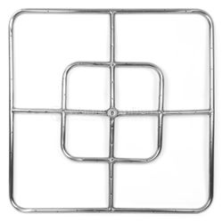 """Stainless Steel Square Gas Fire Pit Burner - 24""""x24"""""""