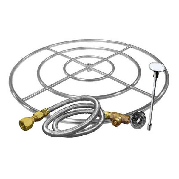 "Stainless Steel Triple Ring Burner Kit - 30"" image number 0"
