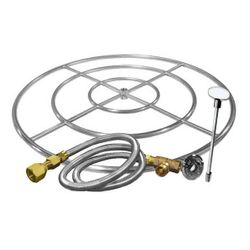 Stainless Steel Triple Ring Burner Kit - 36""