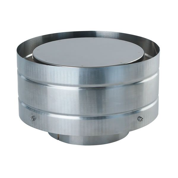 "Stainless Steel Vertical Rain Cap for DV Pipe - 5"" Dia image number 0"