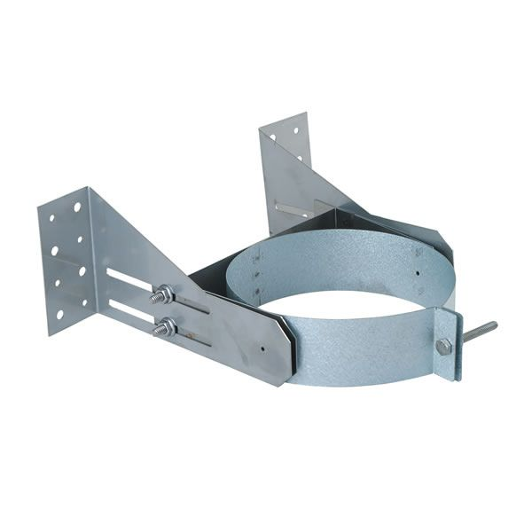 "Stainless Steel Wall Support for Direct Vent Pipe - 4"" Dia image number 0"