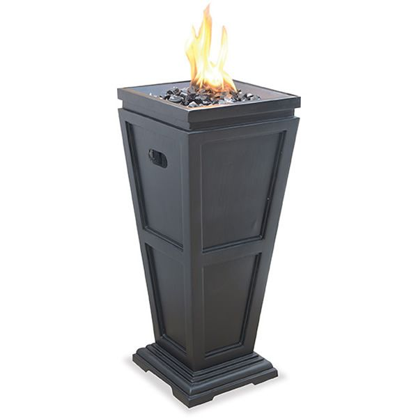 Stand-Alone Outdoor Propane Fireplace - Black image number 0