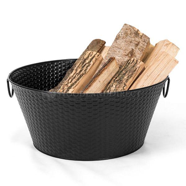 Steel Weave Firewood Basket - Black image number 1