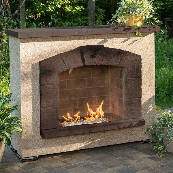 Stone Arch Gas Outdoor Fireplace image number 1