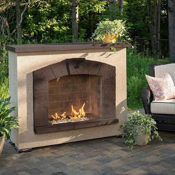 Stone Arch Gas Outdoor Fireplace image number 2