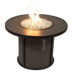 """Stonefire Round Crystal Gas Fire Pit Table - 32"""""""