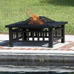 Stonemont Square Wood Burning Fire Pit