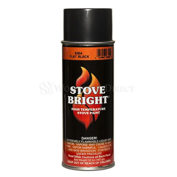 Stove Bright High Temperature Stove Paint - Flat Black image number 0