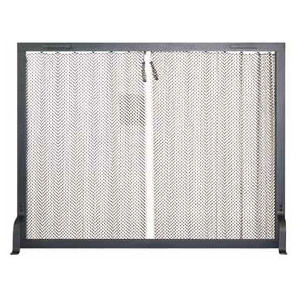 "Stronghold Hanging Mesh Fireplace Screen - 44"" x 34"" image number 0"