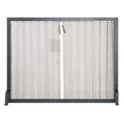 "Stronghold Hanging Mesh Fireplace Screen - 44"" x 34"""