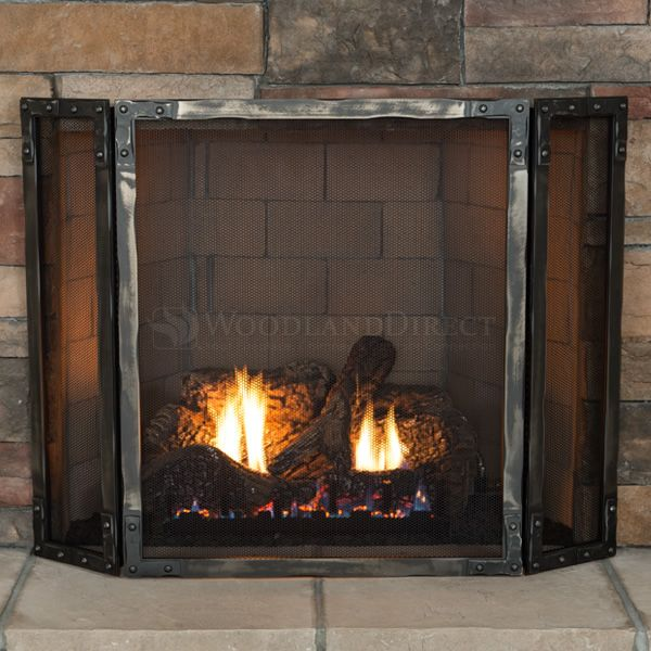 Stronghold Three Panel Fireplace Screen image number 1