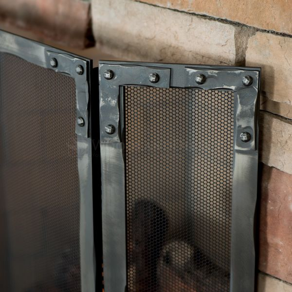 Stronghold Three Panel Fireplace Screen image number 2