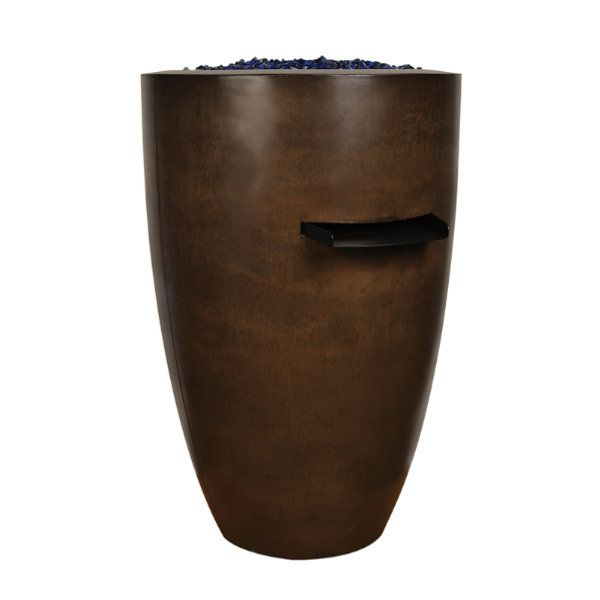 "Sumaco 24"" x 36"" Concrete Fire & Water Bowl image number 0"