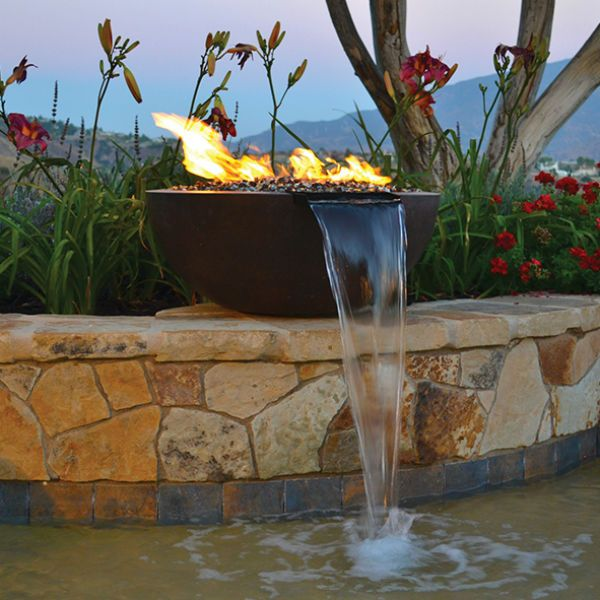 Sumaco Concrete Fire & Water Bowl image number 0