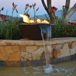 Sumaco Concrete Fire & Water Bowl