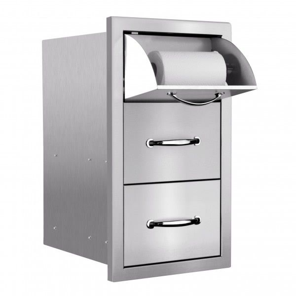 Summerset Masonry Double Drawer and Paper Towel Dispenser image number 0