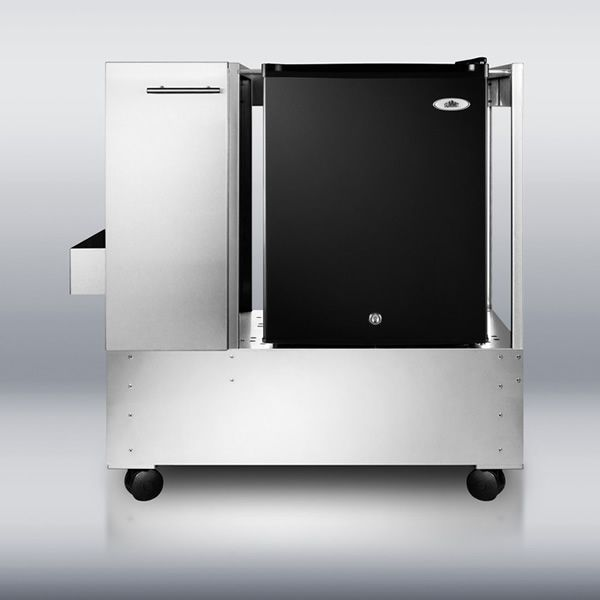 Summit RPC29 Mobile Cart with Refrigerator image number 1