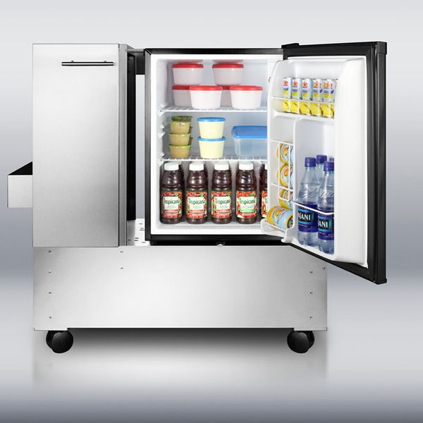Summit RPC29 Mobile Cart with Refrigerator image number 2