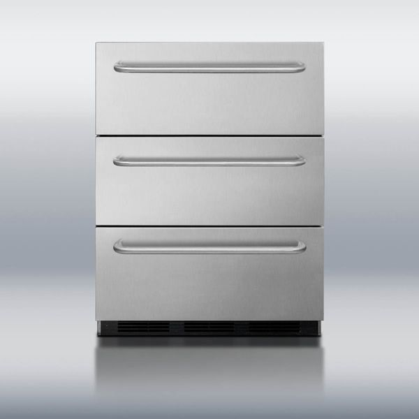 Summit SP6DSSTBOS Triple Drawer Refrigerator image number 1
