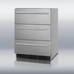 Summit SP6DSSTBOS Triple Drawer Refrigerator