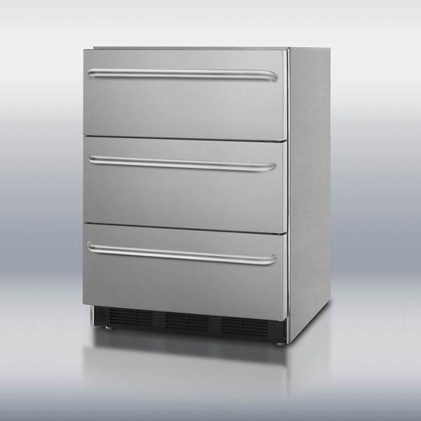 Summit SP6DSSTBOS Triple Drawer Refrigerator image number 0