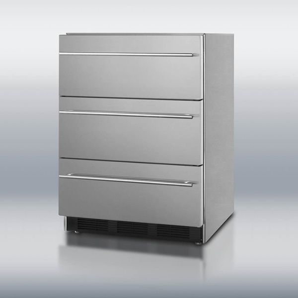 Summit SP6DSSTBOSThin Triple Drawer Refrigerator image number 0