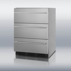 Summit SP6DSSTBOSThin Triple Drawer Refrigerator