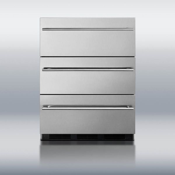 Summit SP6DSSTBOSThin Triple Drawer Refrigerator image number 1