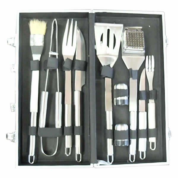 Sunstone 10 Piece Stainless Steel BBQ Tool Set image number 0