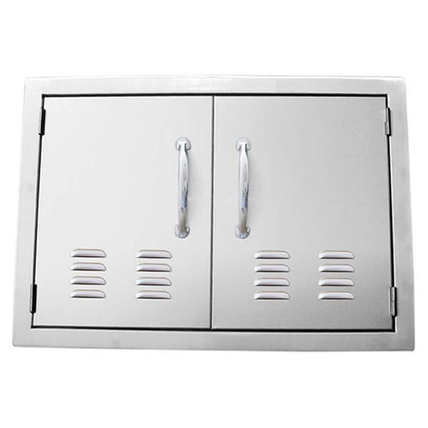 "Sunstone Flush Mount Double Door with Vents - 30"" image number 0"