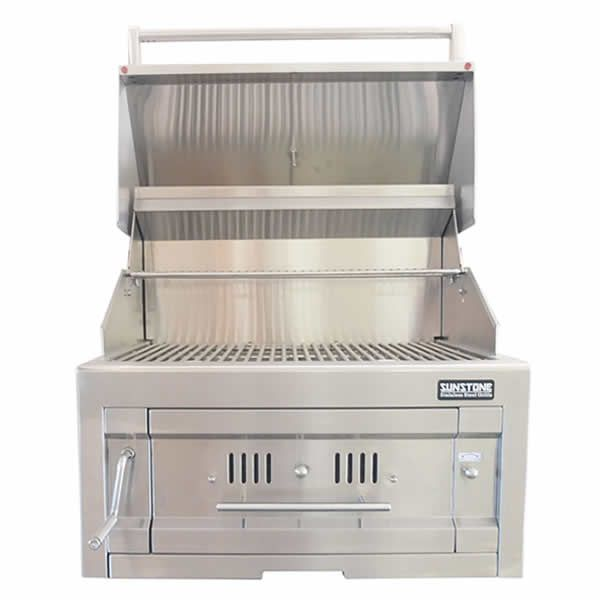 """Sunstone Dual Zone 304 Stainless Steel Charcoal Grill - 28"""" image number 1"""