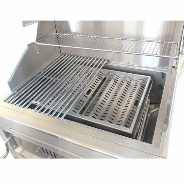 """Sunstone Dual Zone 304 Stainless Steel Charcoal Grill - 28"""" image number 2"""