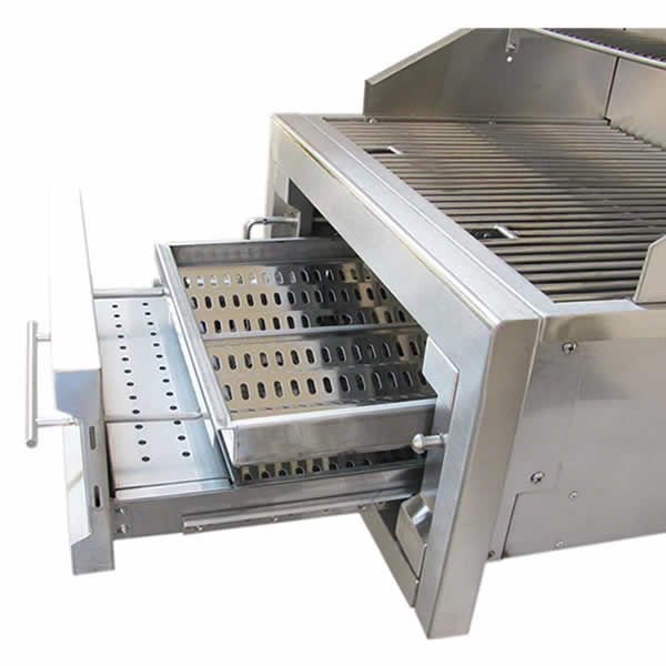 """Sunstone Dual Zone 304 Stainless Steel Charcoal Grill - 28"""" image number 3"""