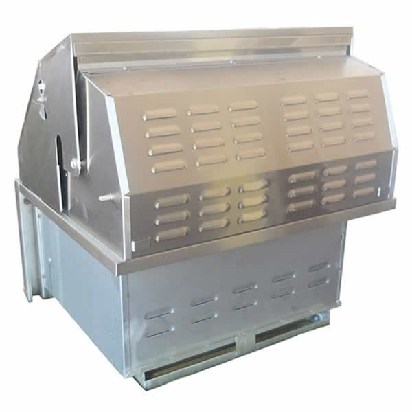 """Sunstone Dual Zone 304 Stainless Steel Charcoal Grill - 28"""" image number 4"""