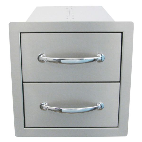 Sunstone Flush Double Access Drawer image number 1