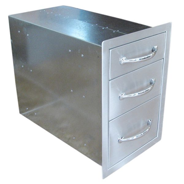 Sunstone Flush Triple Access Drawer image number 1