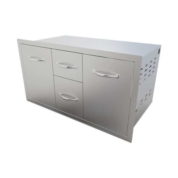 "Sunstone Storage Unit with Drawer and Tank Tray Combo - 42"" image number 2"