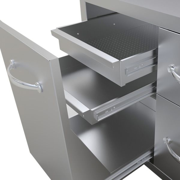 "Sunstone Storage Unit with Drawer and Tank Tray Combo - 42"" image number 3"